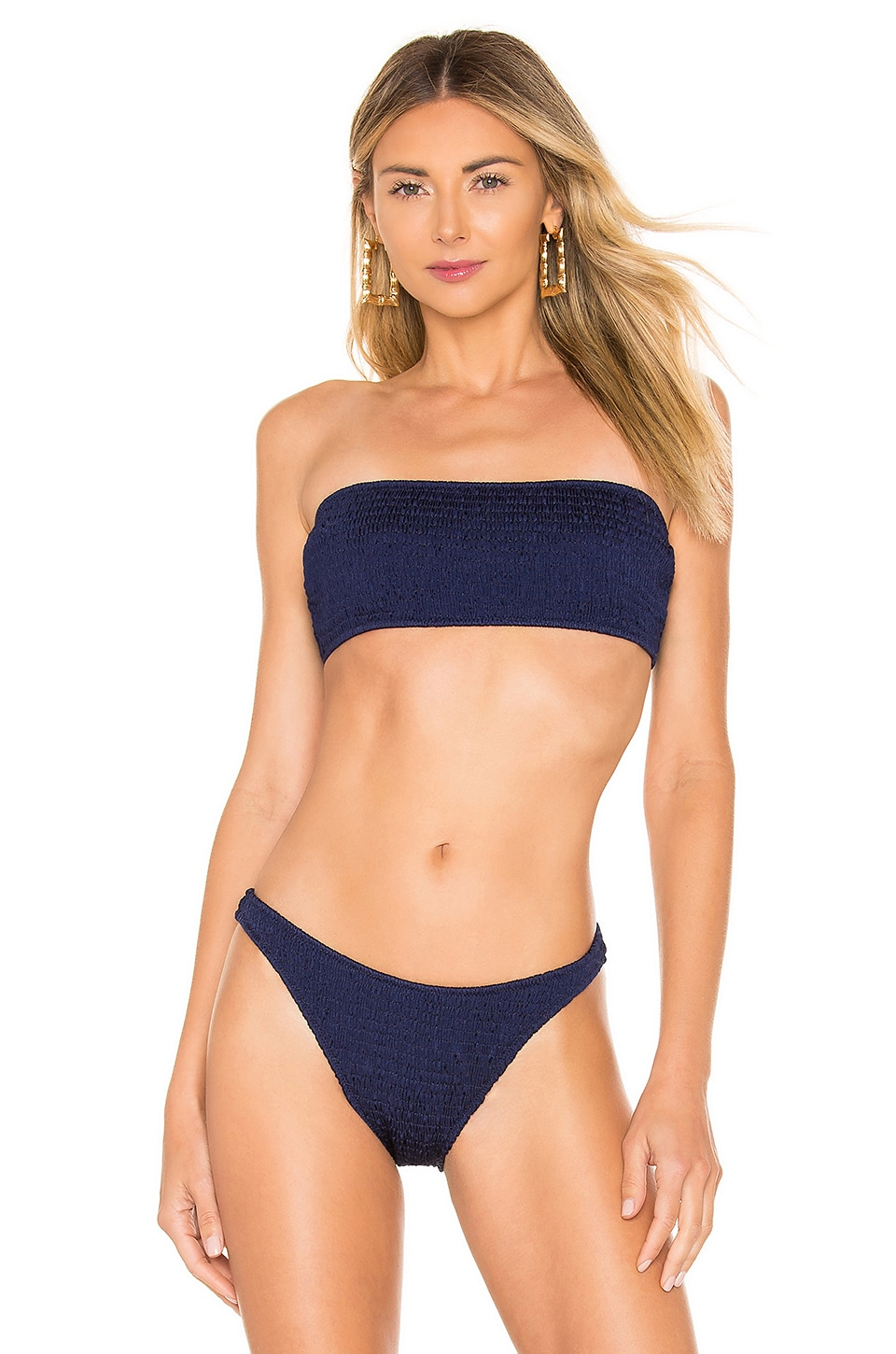 Solid & Striped Annabelle Ruched Bikini Top in Midnight