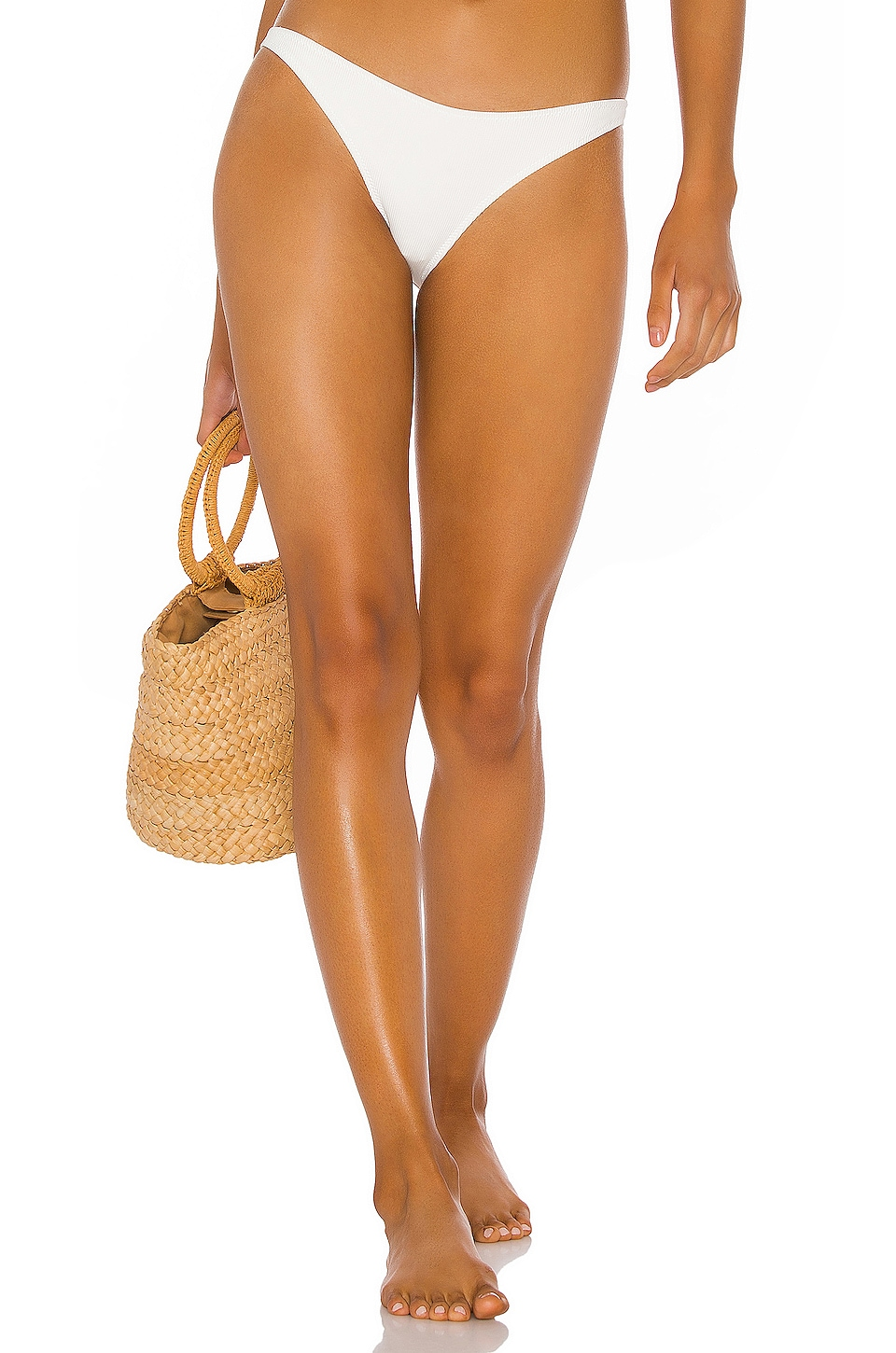 Solid & Striped x RE/DONE Nantucket Underwire Bikini Bottom in Ivory Rib
