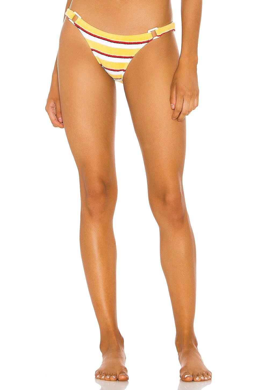 Solid & Striped Tilda Bikini Bottom in Yellow Stripe Terry