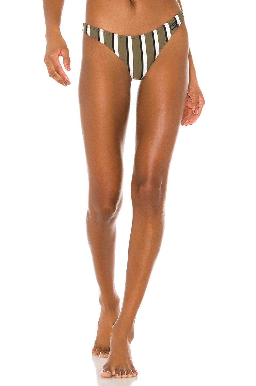 Solid & Striped Rachel Bikini Bottom in Olive, Cream & Black