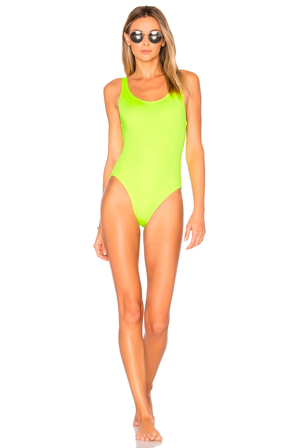 Solid & Striped The Anne Marie One Piece in Pop Yellow
