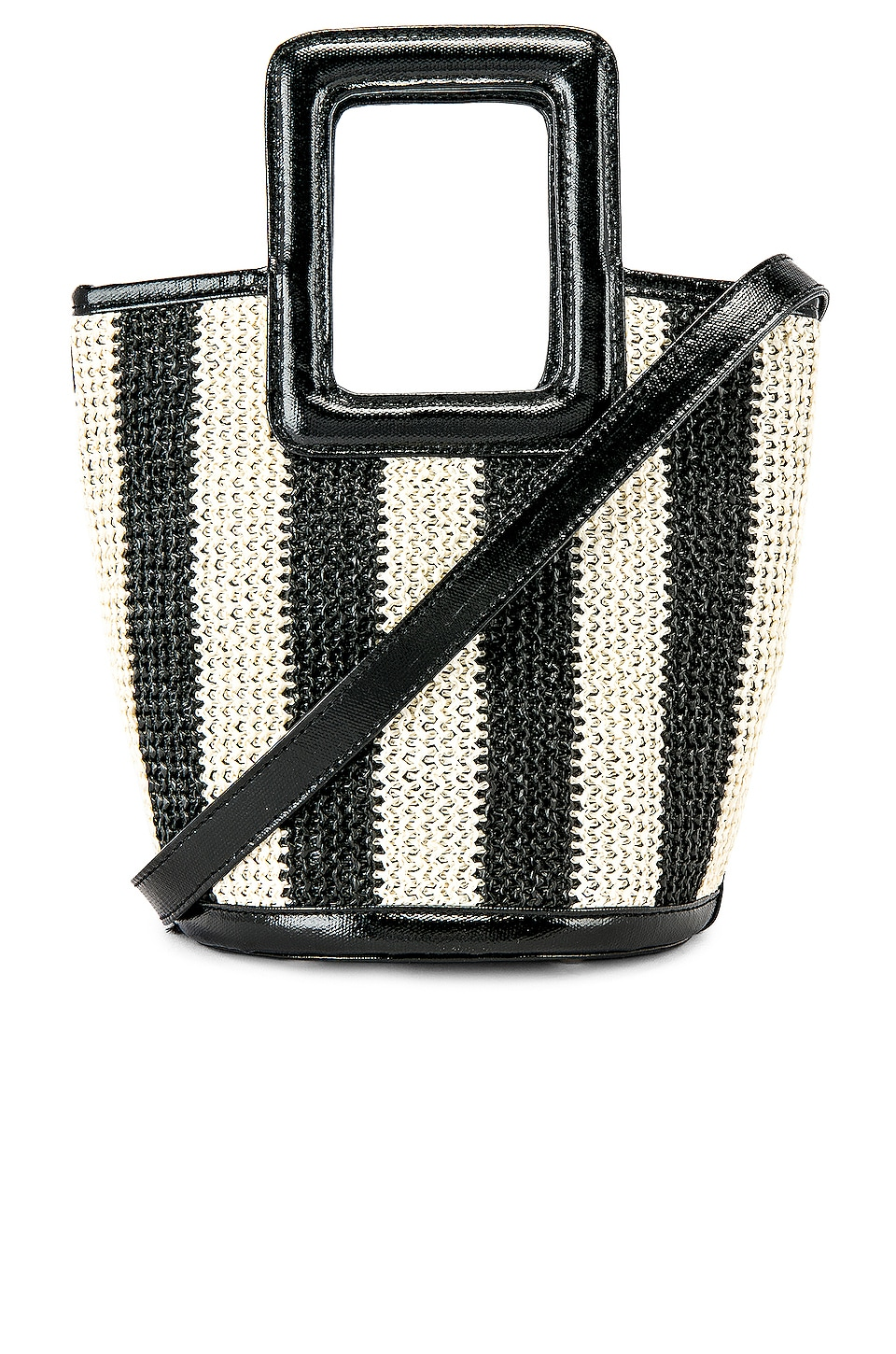 Solid & Striped Pookie Crochet Tote in Black & White Stripe