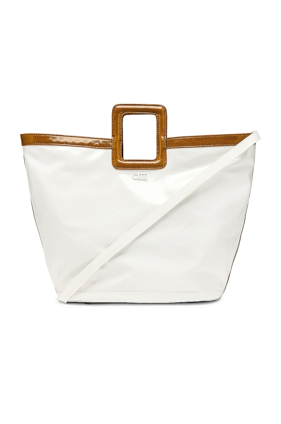 Solid & Striped Cleo Tote in Cream Putty Combo
