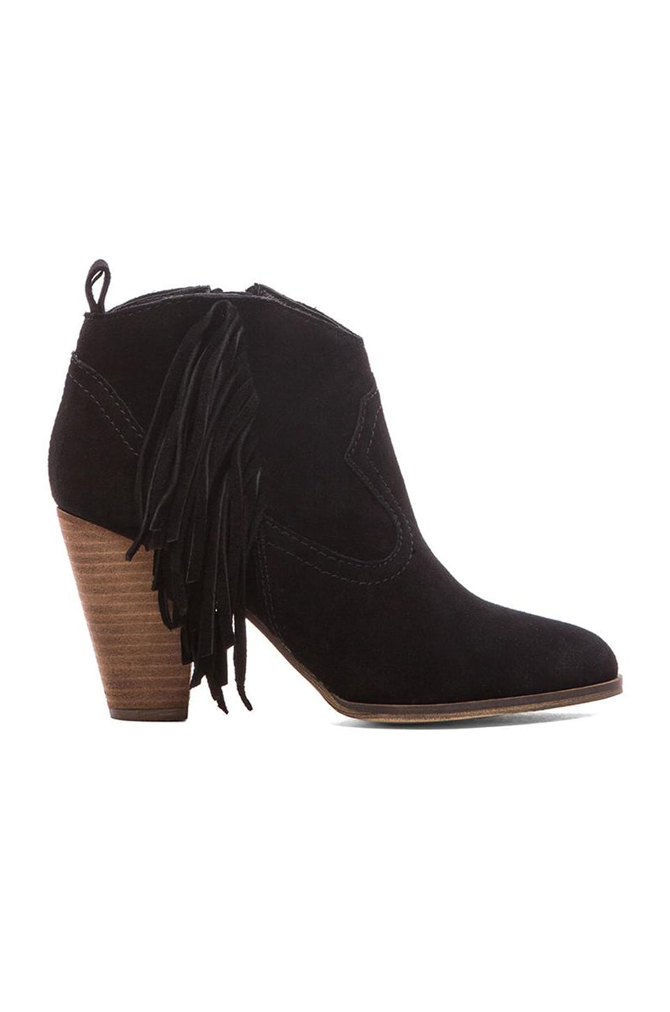 Steve Madden Poncho Bootie in Black Suede