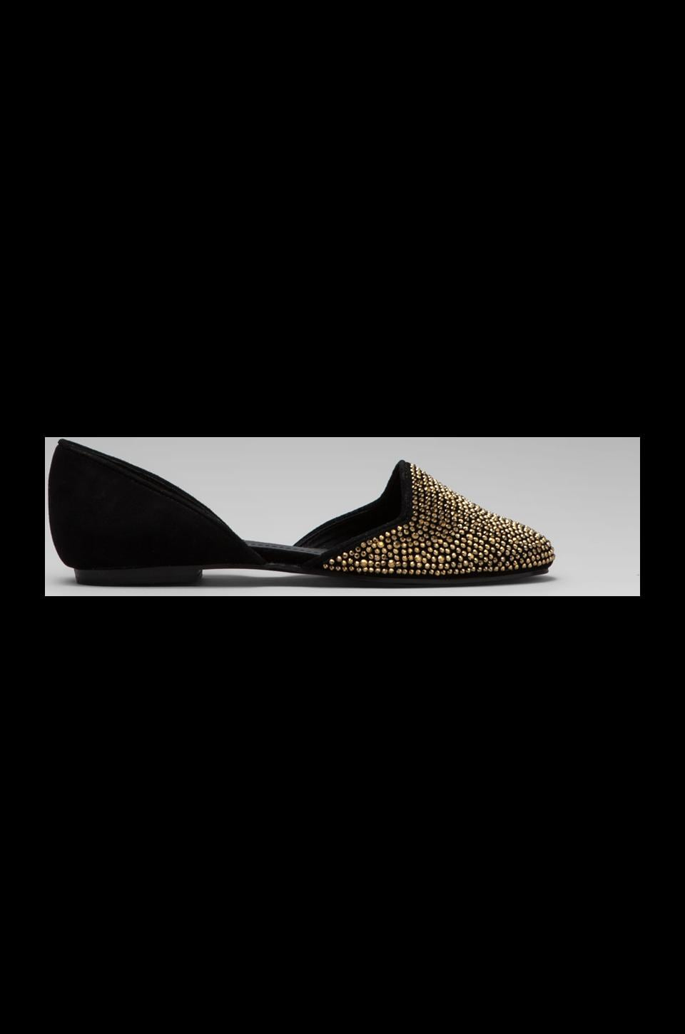 Steve Madden Vamp Flat in Black/Gold