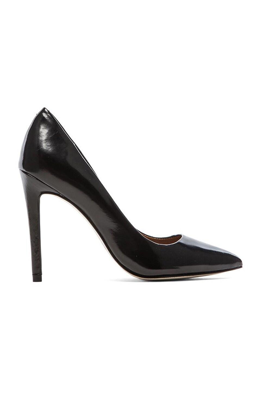 Steve Madden Proto Heel in Black Leather