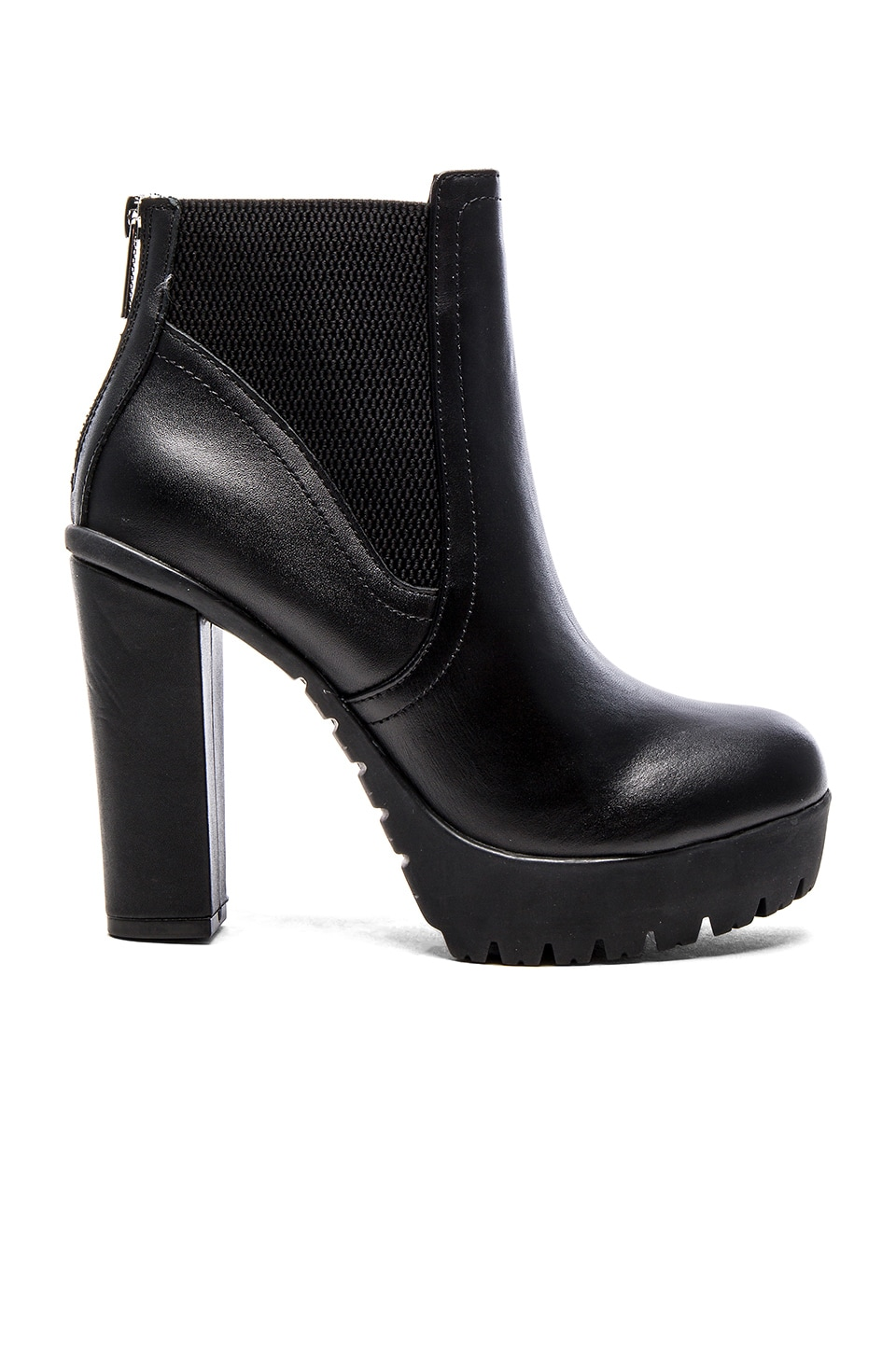 Steve Madden Amandaa Bootie in Black Leather