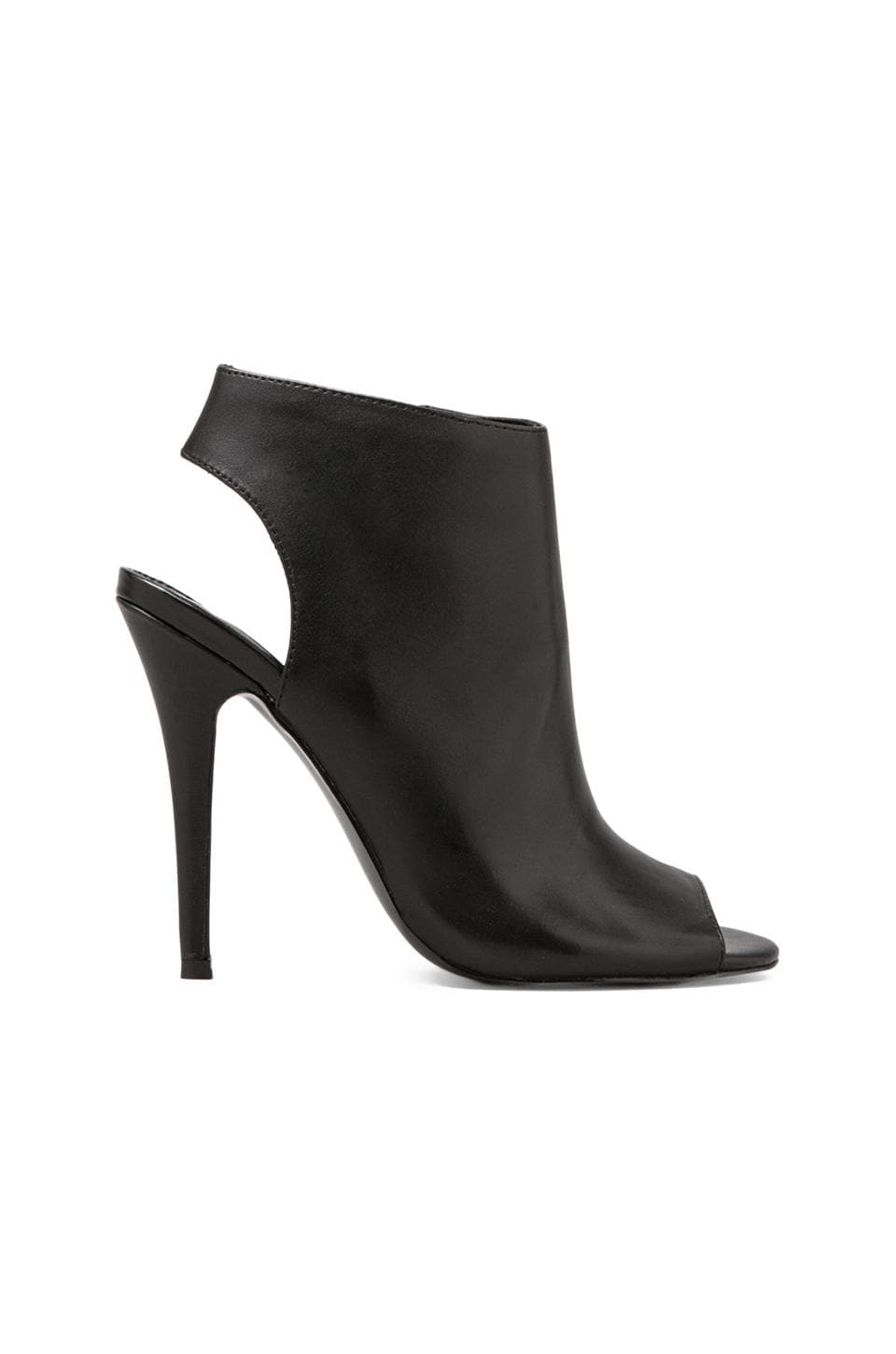 Steve Madden Roknrol Heel Bootie in Black Leather