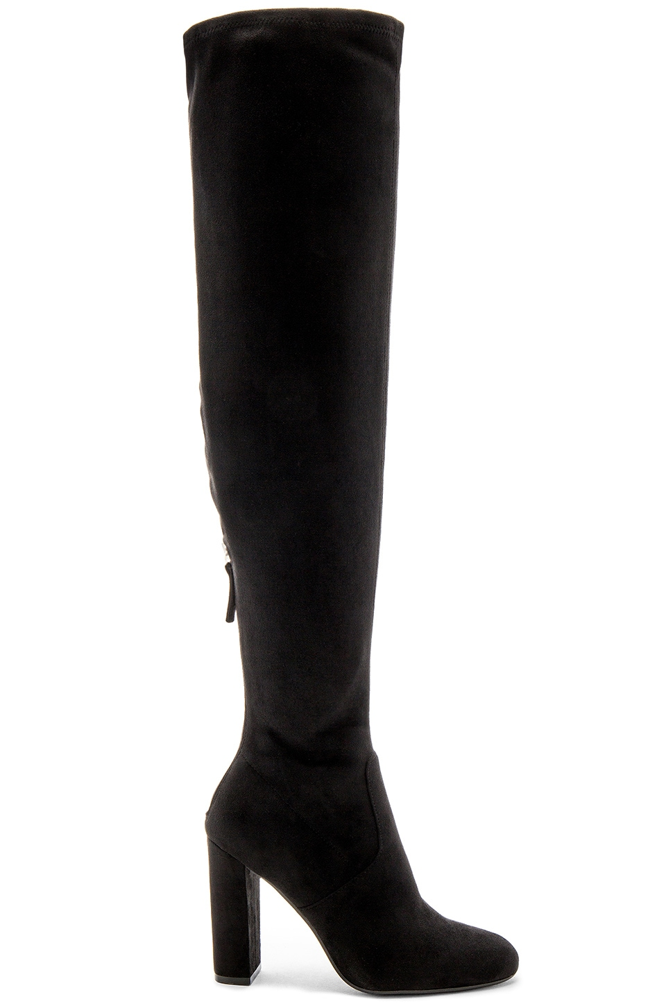Steve Madden Emotionz Boot in Black Suede