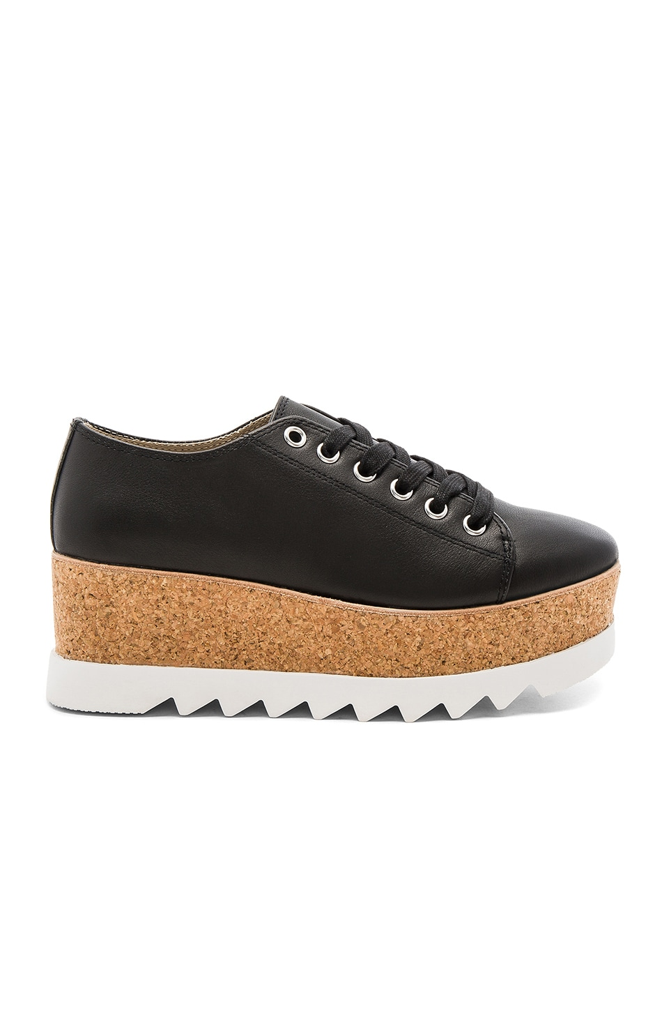 Steve Madden Korrie Sneaker in Black Leather
