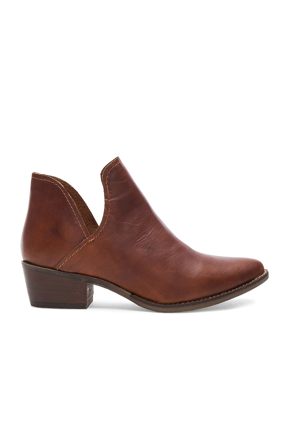 Steve Madden Austin Bootie in Cognac Leather