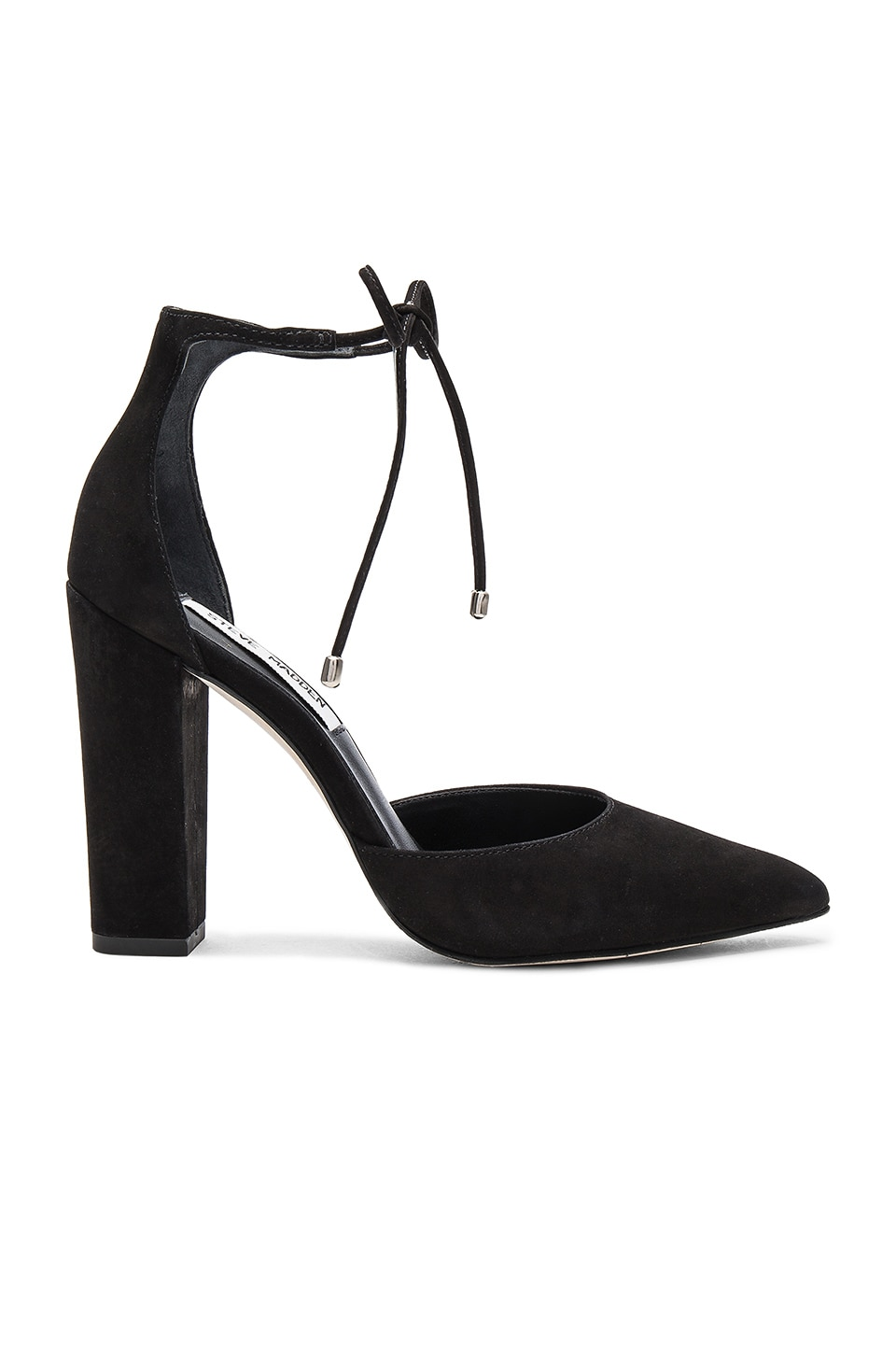 Steve Madden Pampered Heel in Black Nubuck