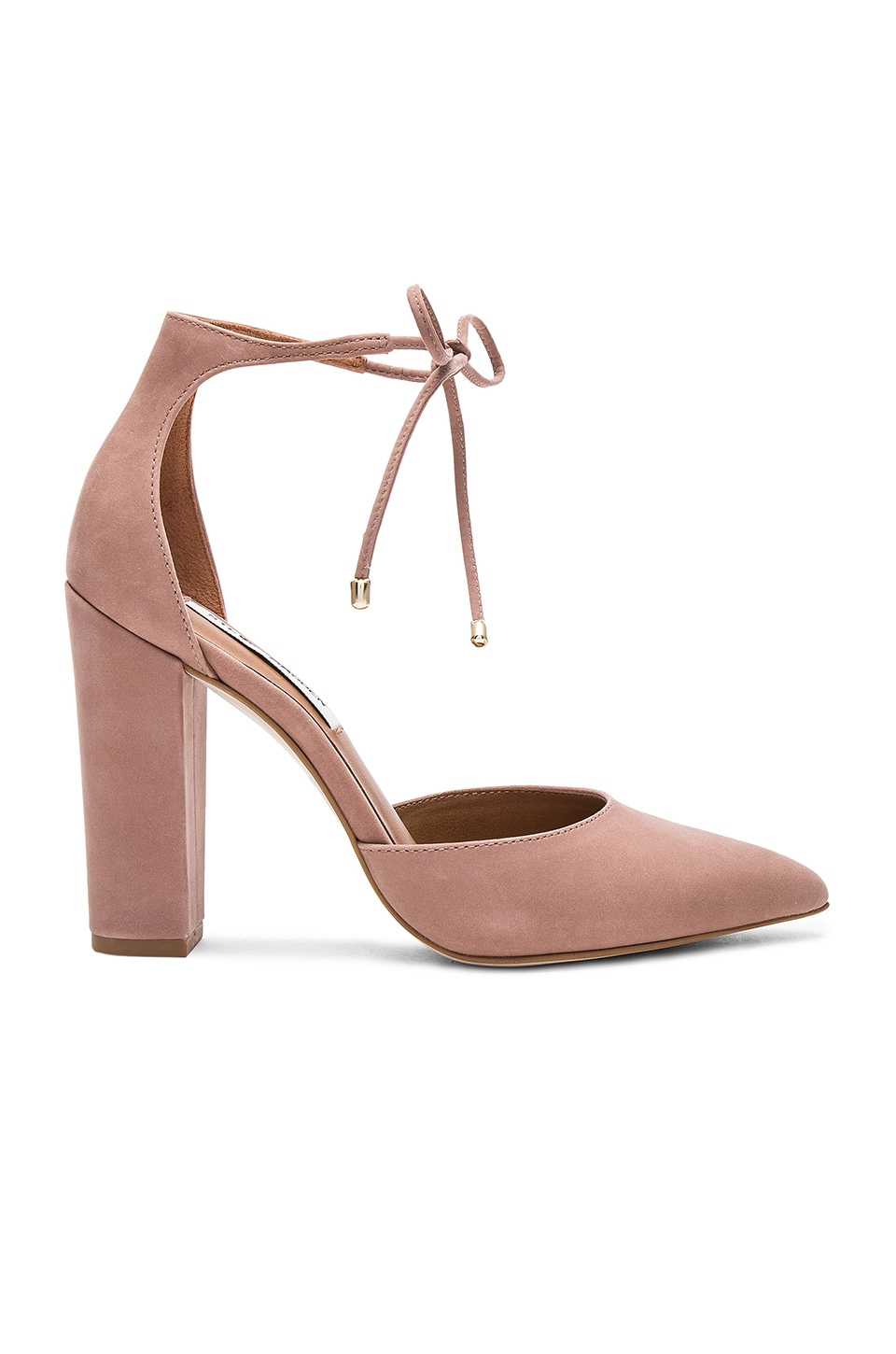 Steve Madden Pampered Heel in Blush Nubuck
