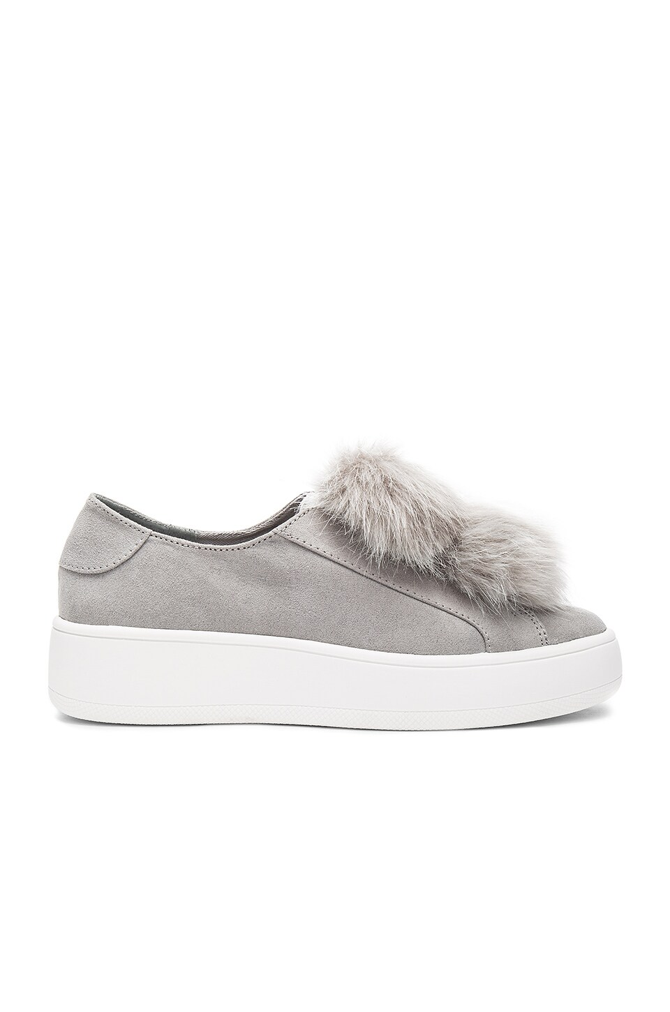 Steve Madden Bryanne Faux Fur Sneaker in Grey Multi