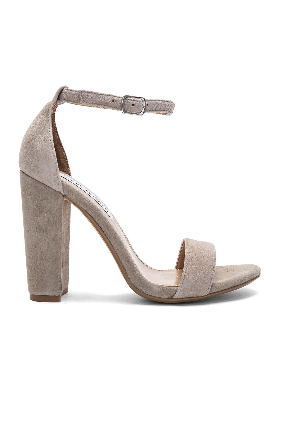 Steve Madden Carrson Heel in Taupe Suede