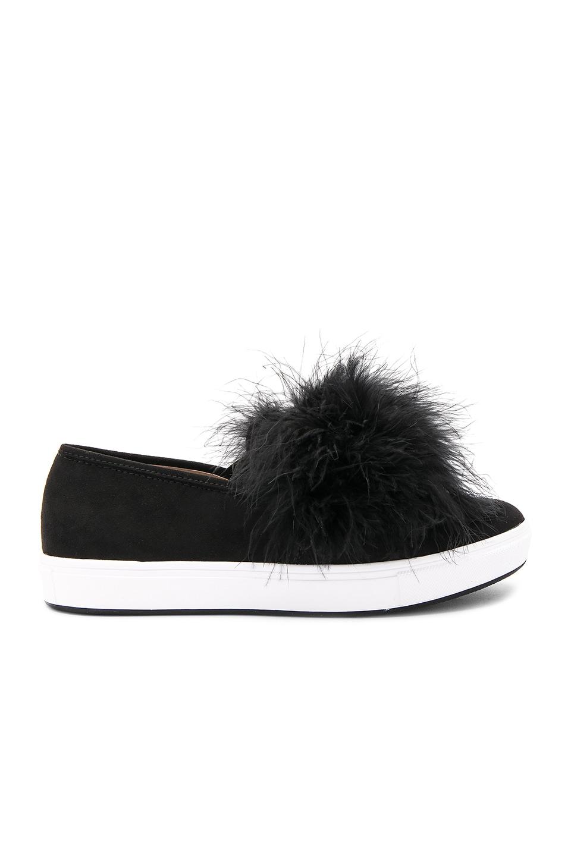 f79a398b021 Steve Madden Emily Pom Pom Sneakers In Black