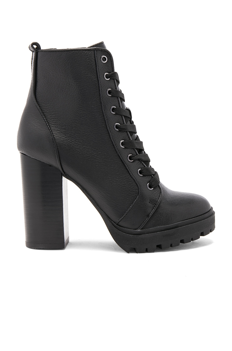 Steve Madden Laurie Bootie in Black Leather