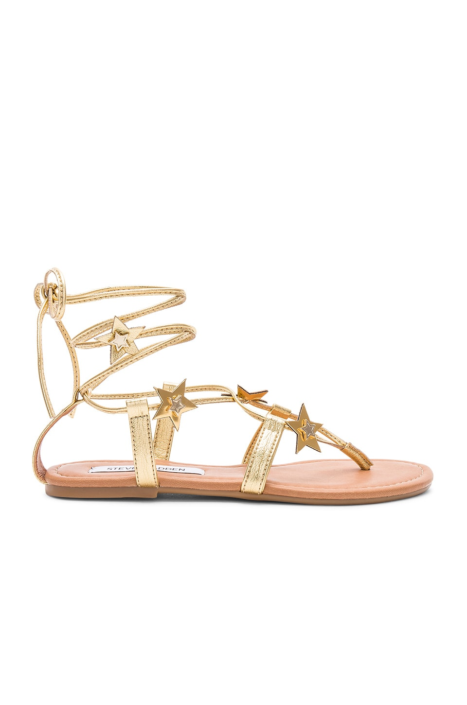Steve Madden Jupiter Sandals in Gold