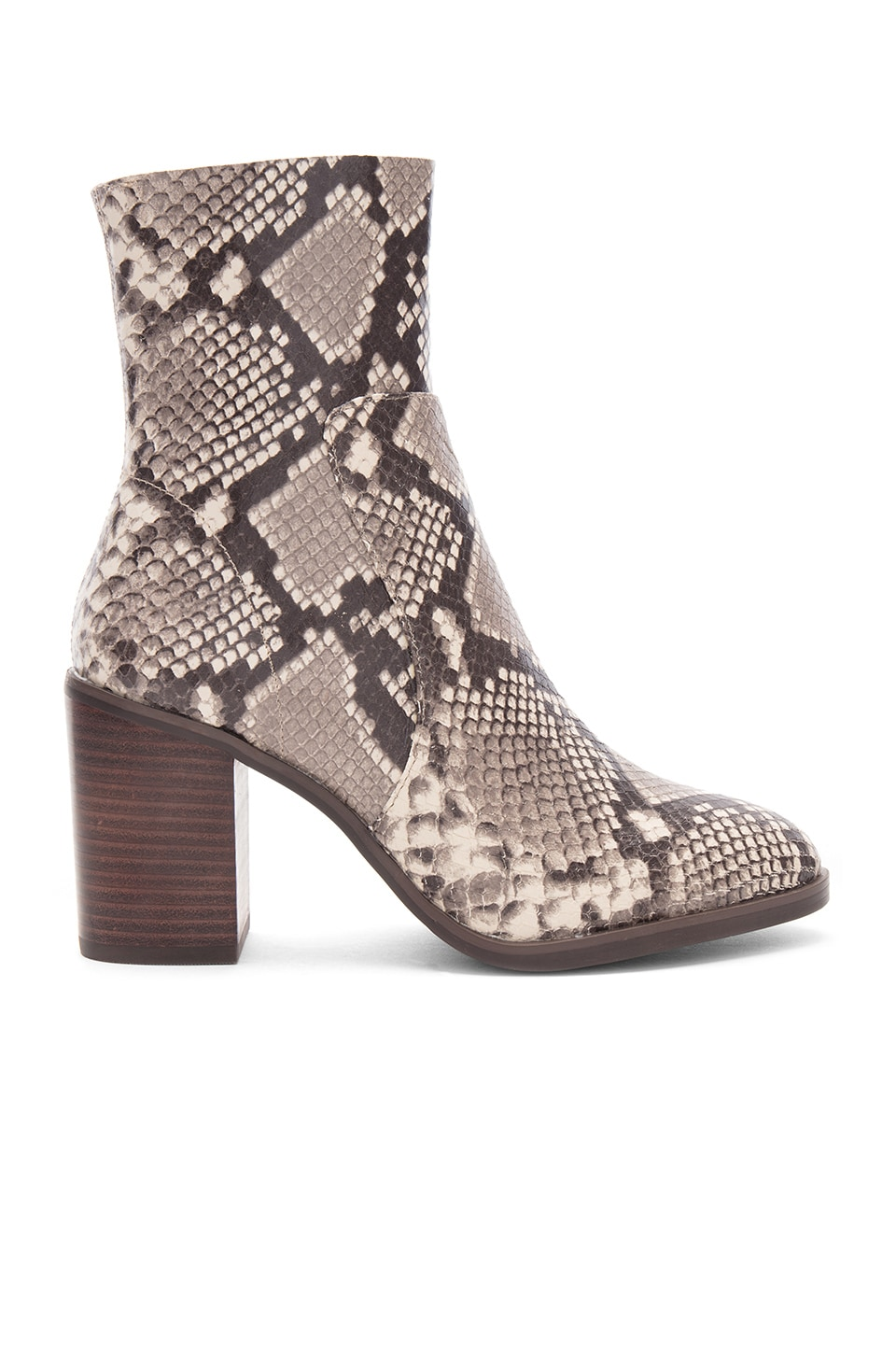 151be6124b0 Steve Madden Rewind Bootie in Natural Snake | REVOLVE