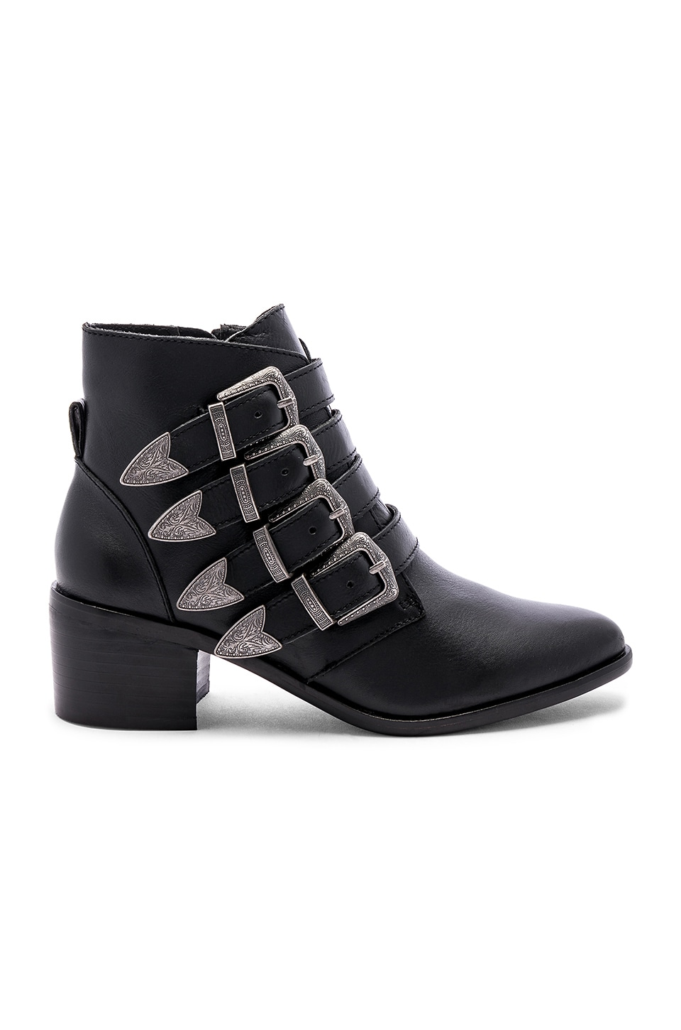 ffd47d7a655 Steve Madden Billey Bootie in Black Leather | REVOLVE