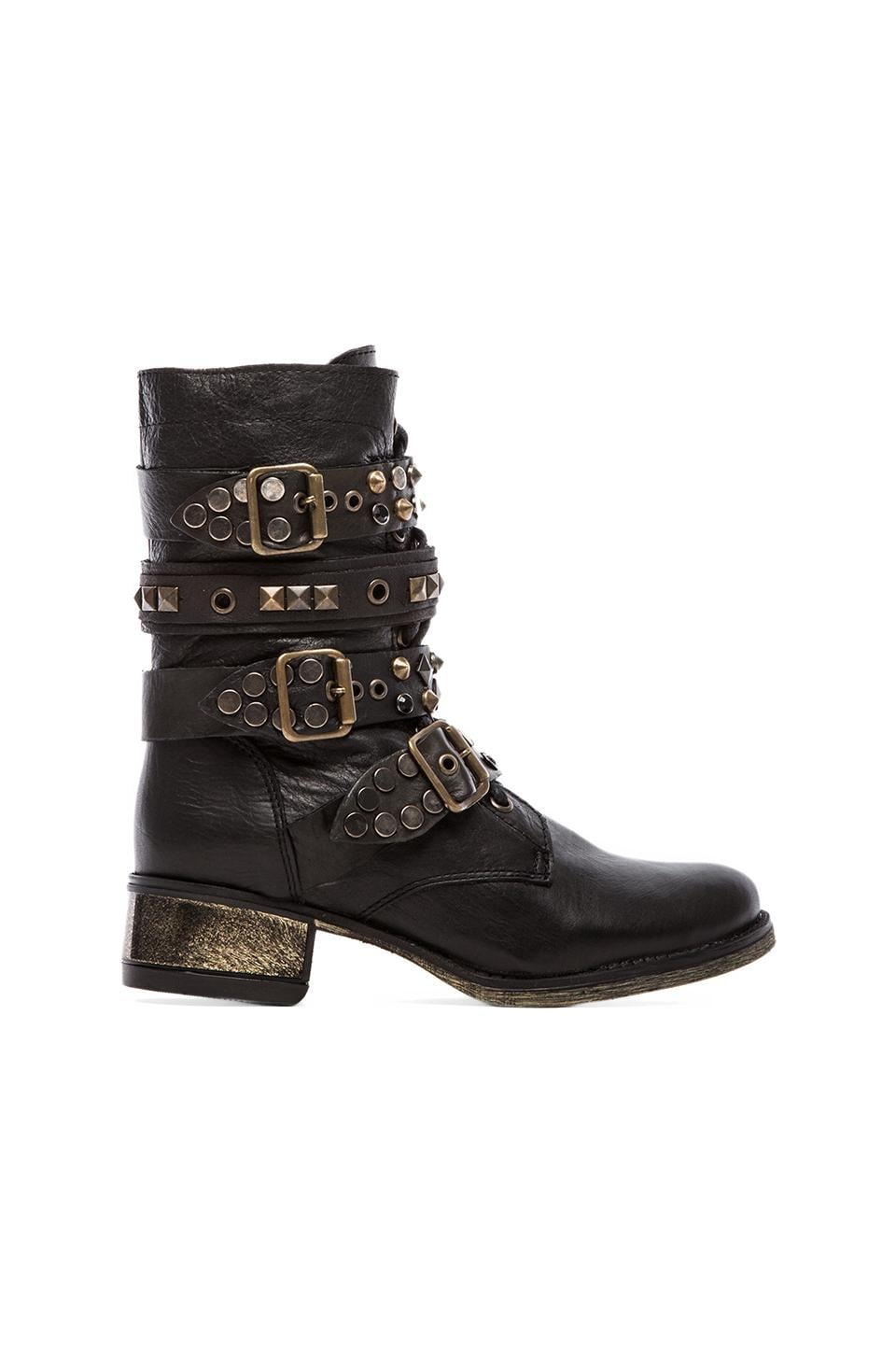 Steve Madden Lilian Studded Moto Boot in Black