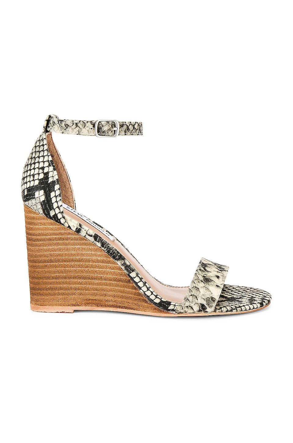Steve Madden Mary Wedge in Natural Snake