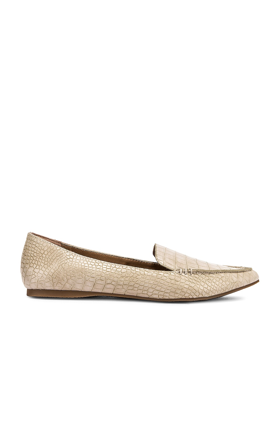 Steve Madden Feather Loafer in Taupe Crocco