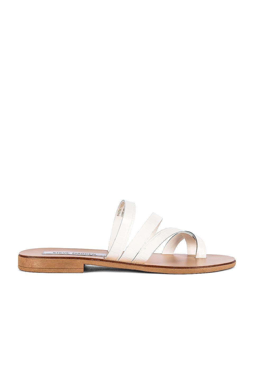 Steve Madden Ringtone Sandal in White Croc