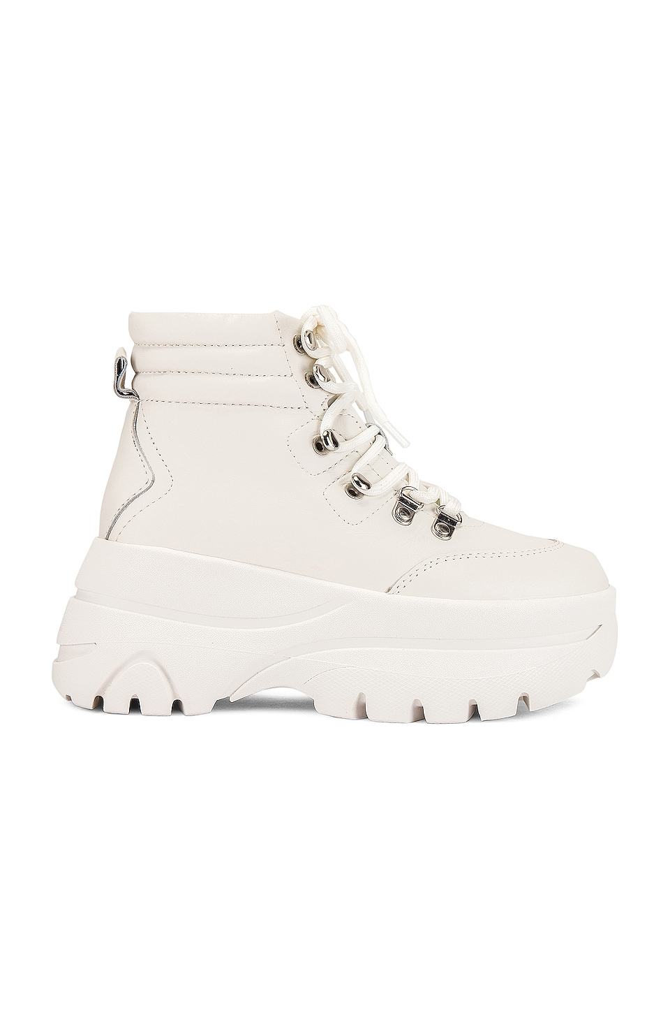 Steve Madden Husky Boot in White Leather