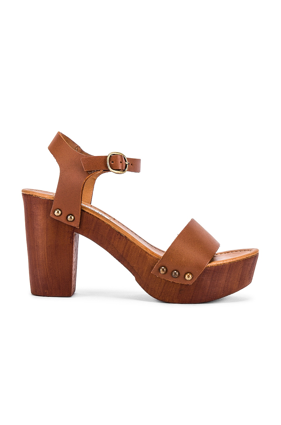 Steve Madden Luna Platform in Tan Leather