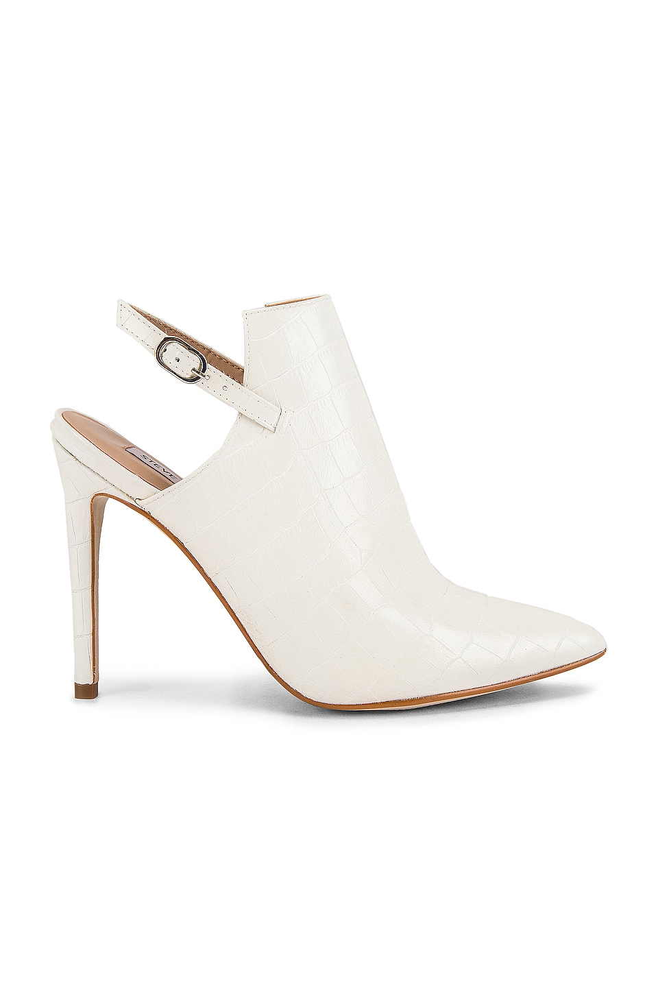 Steve Madden Daily Heel in White Crocco