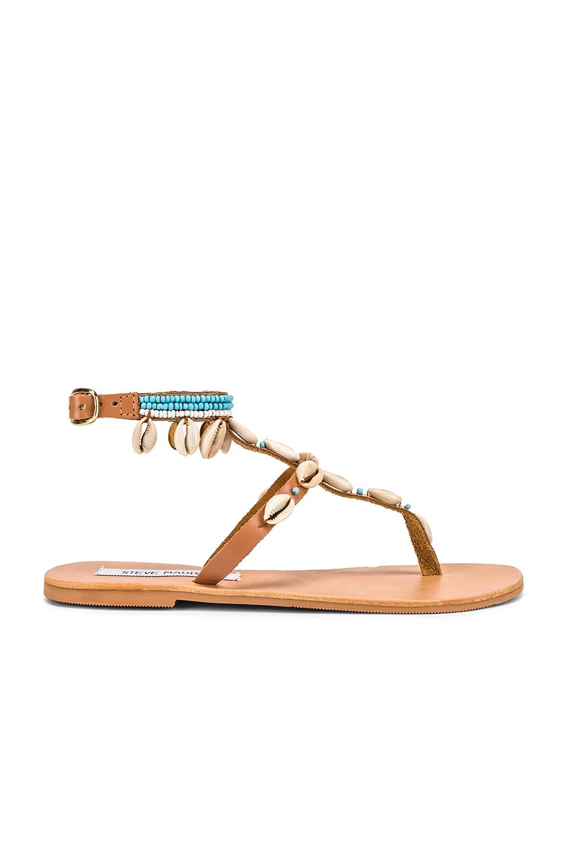 Steve Madden Crete Sandal in Tan & Multi