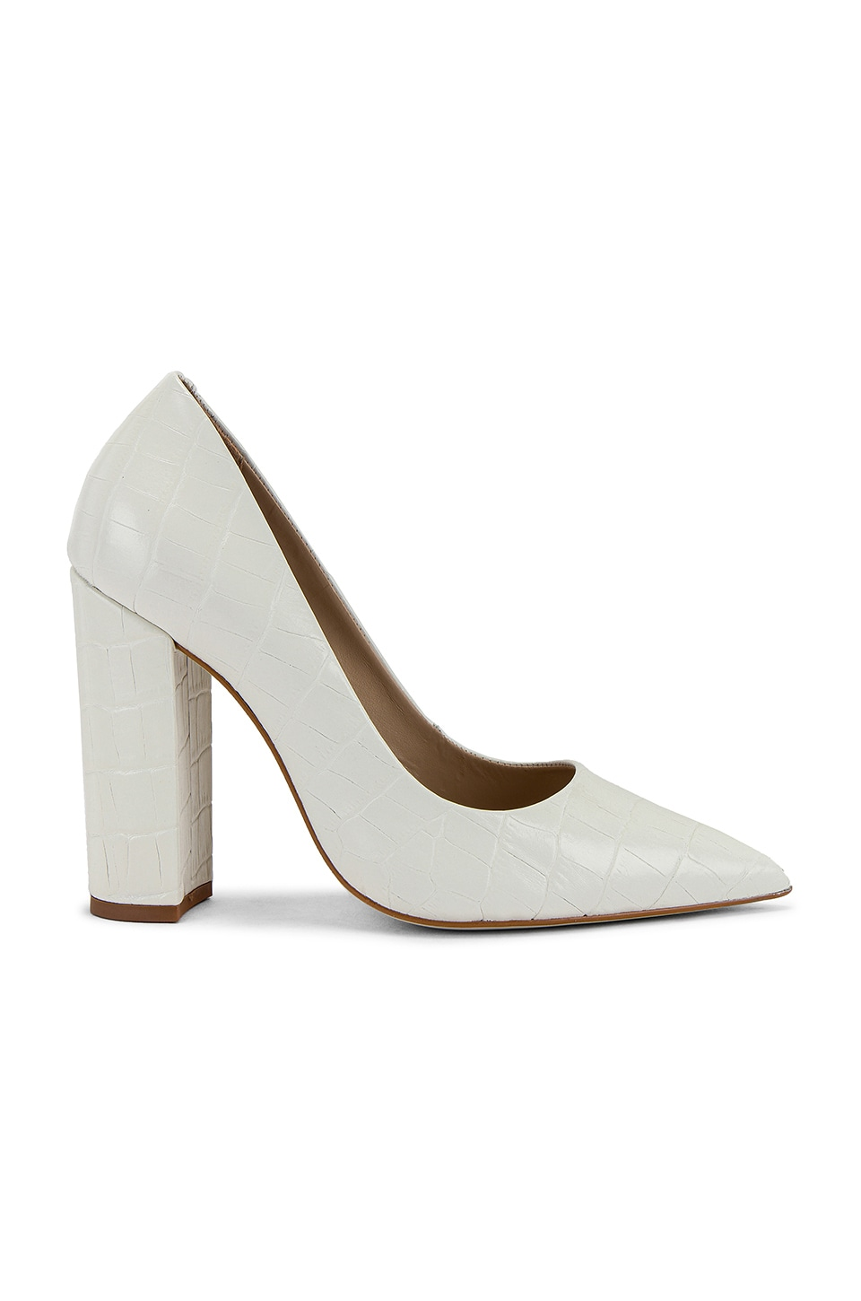 Steve Madden Prance Pump in White Crocodile