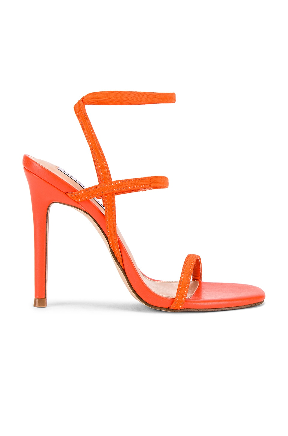Steve Madden Nectur Strappy Heel in Red & Orange