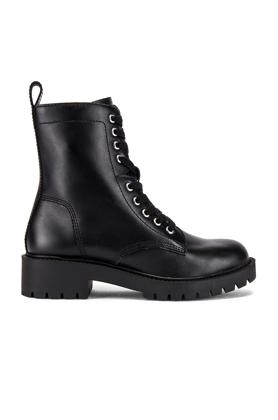Steve Madden Guided Boot in Black Leather
