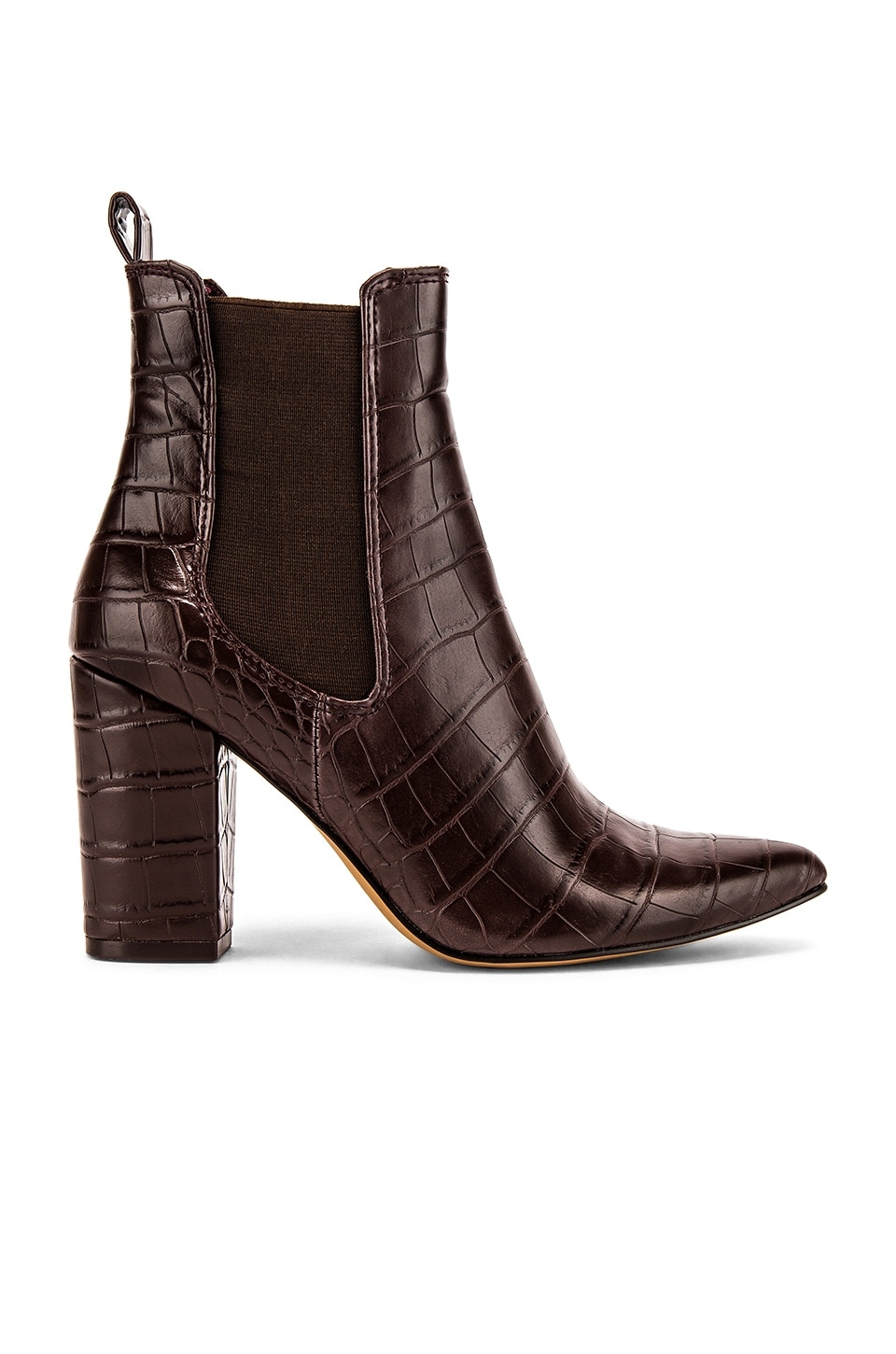 Steve Madden Subtle Bootie in Brown Crocco