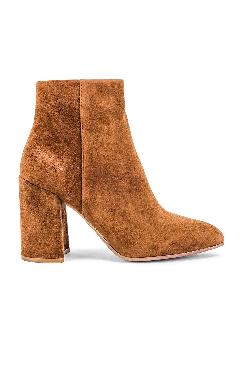 Steve Madden Therese Bootie in Brown Suede