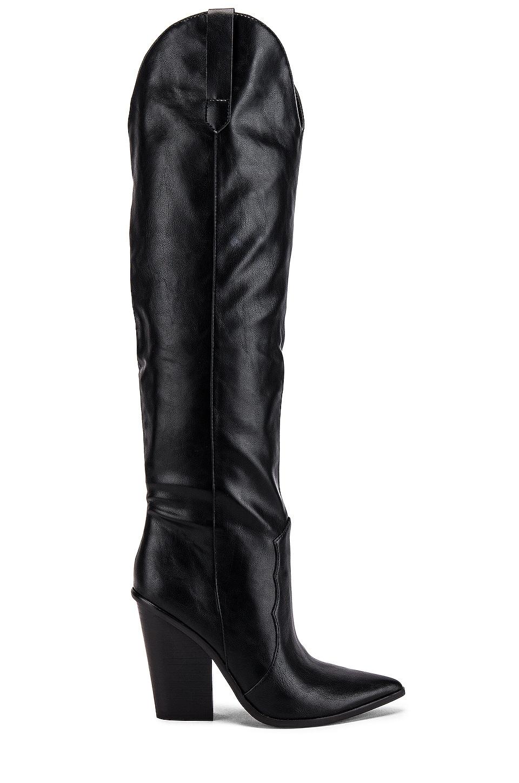 Steve Madden Ranger Boot in Black Leather