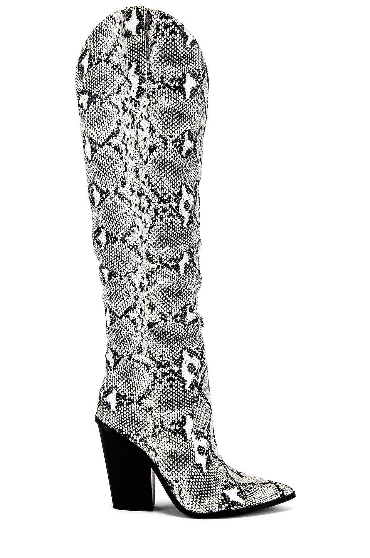 Steve Madden Ranger Boot in Black & White Snake