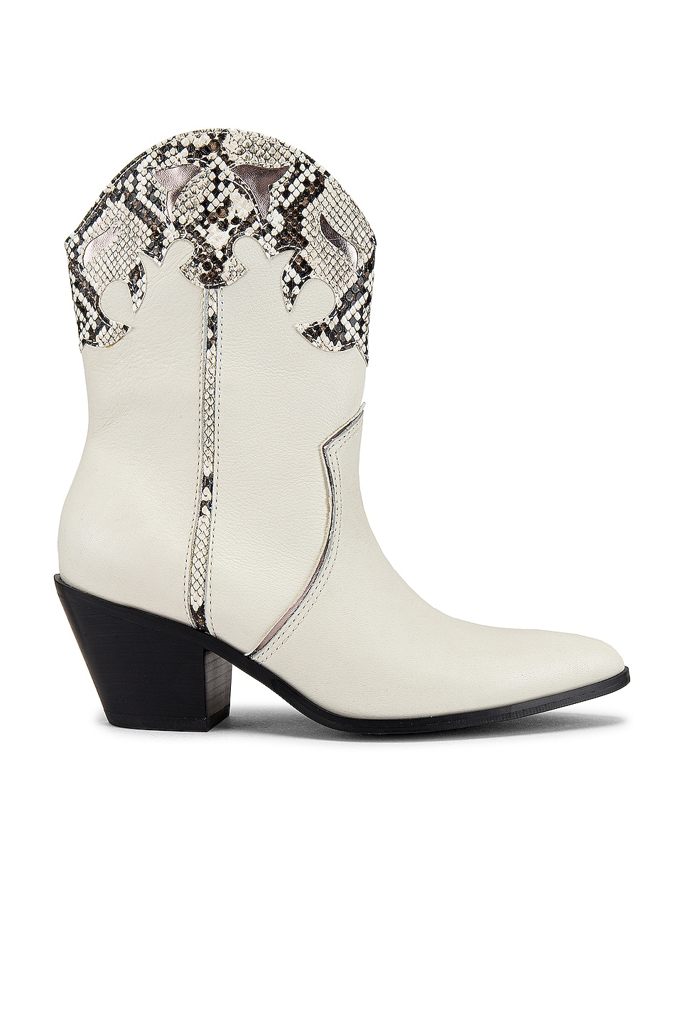 Steve Madden Howdy Boot in White Leather