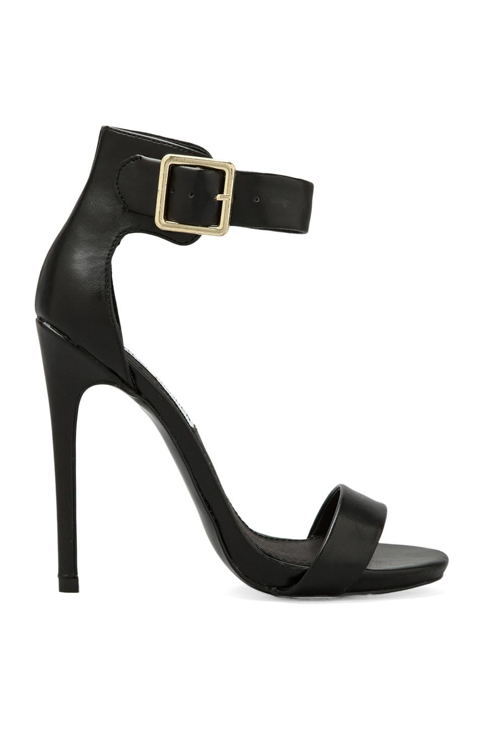 Steve Madden Marlenee Heel in Black Leather