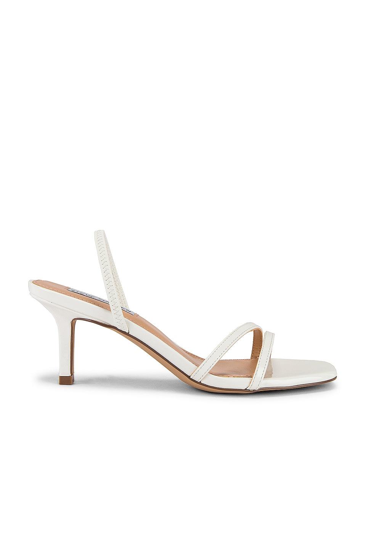Steve Madden Loft Kitten Heel Sandal in White Patent