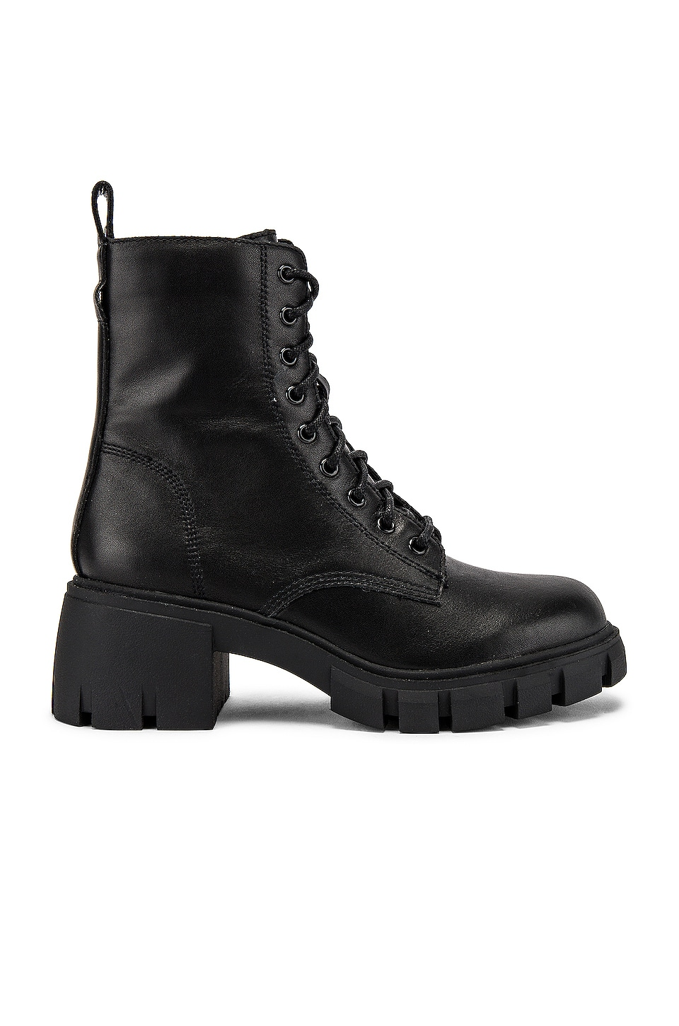 Steve Madden Hybrid Combat Boot in Black