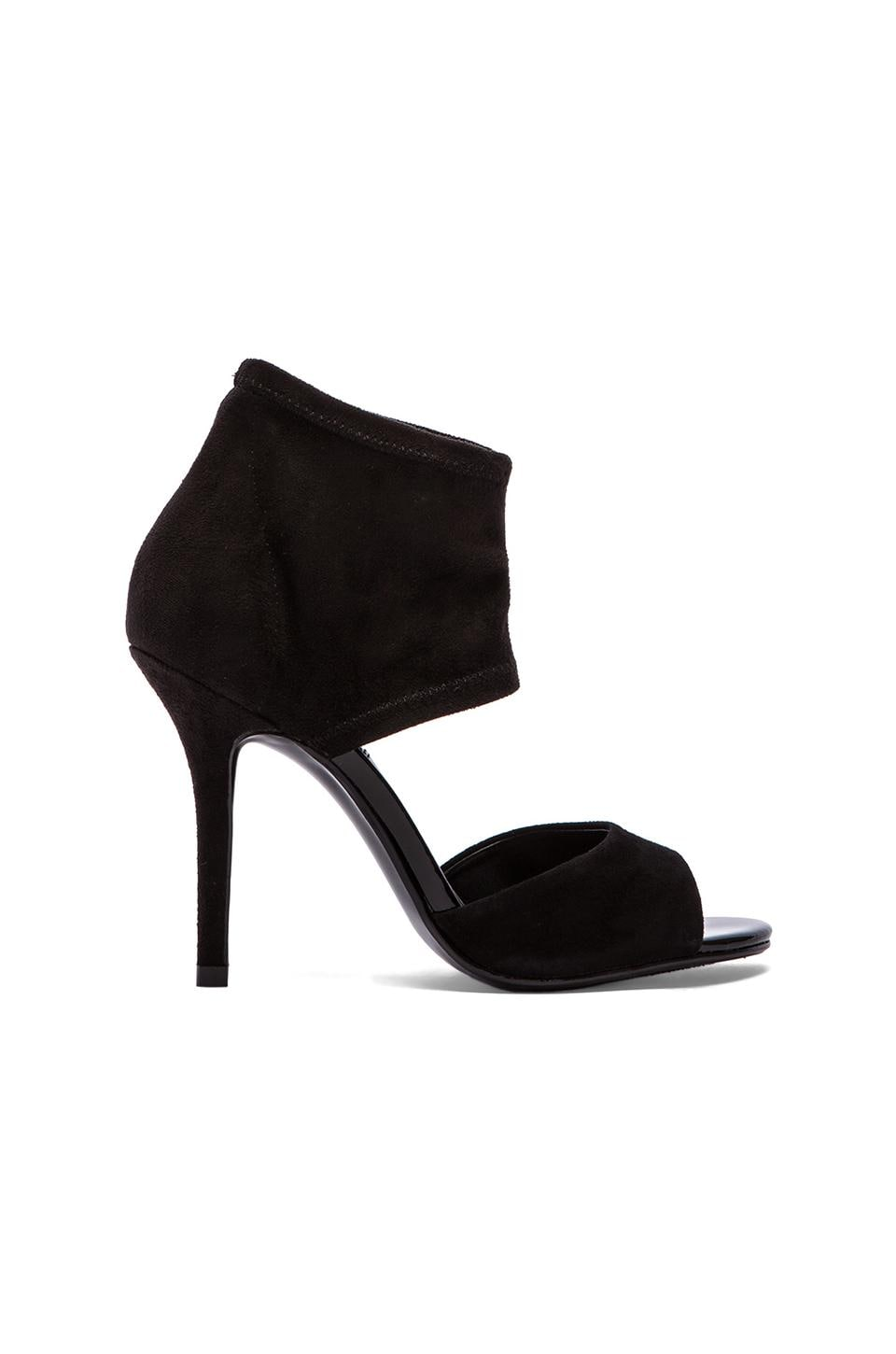 Steve Madden Lift Off Heel in Black Suede