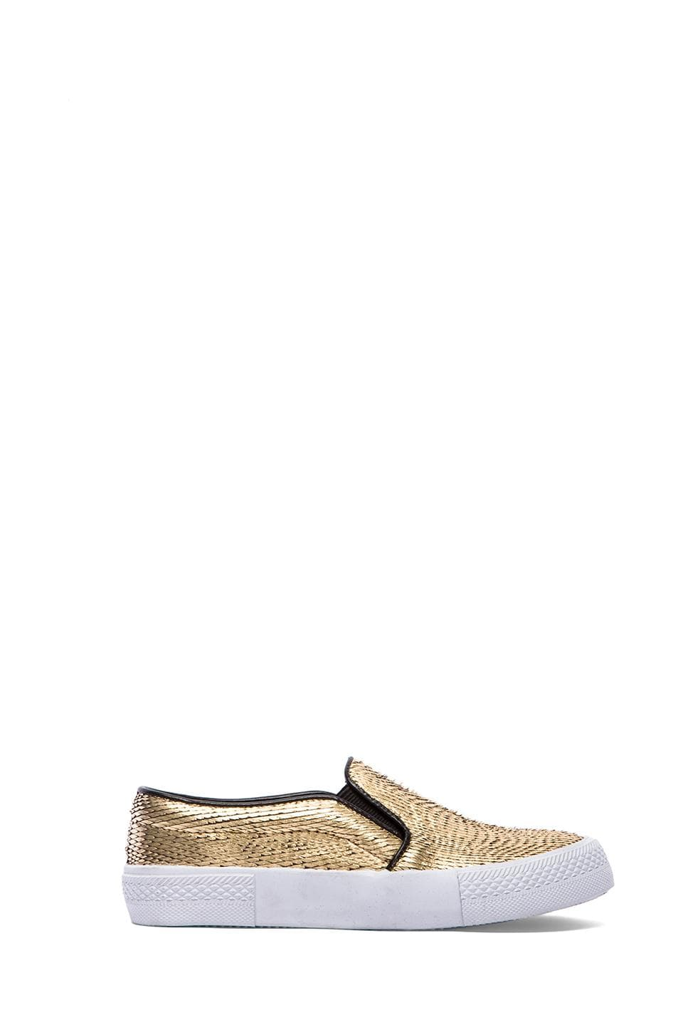 Steve Madden NYC Flat in Gold