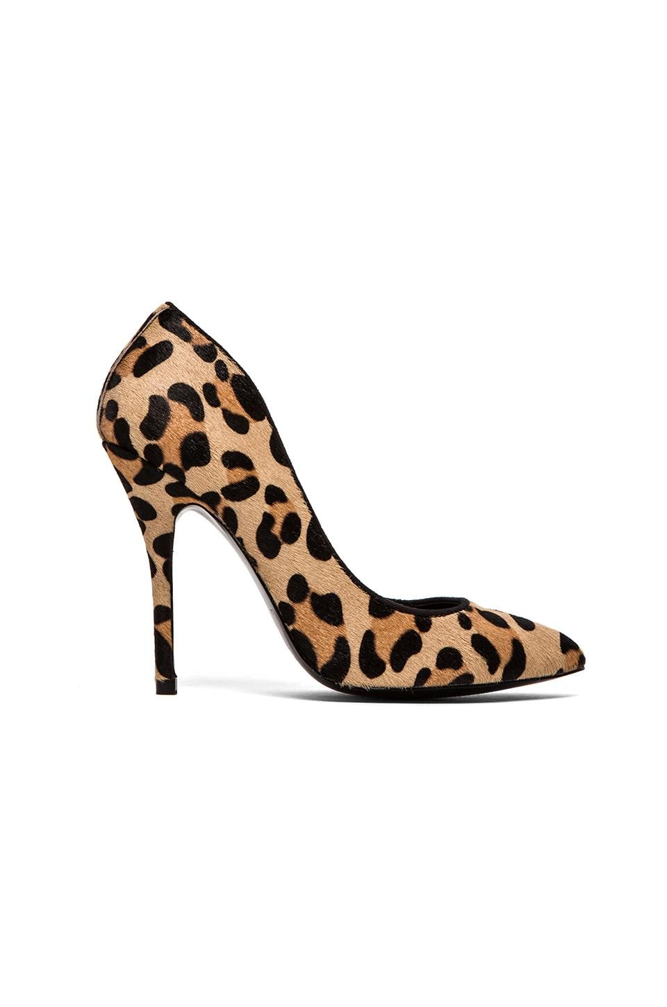 Steve Madden Galleryl Pump with Calf Fur in Leopard