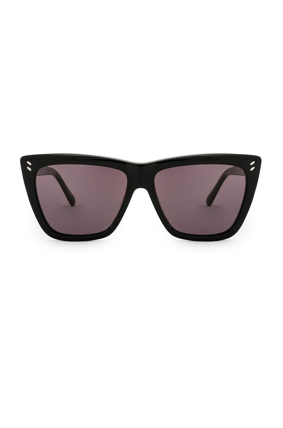 Stella McCartney Square Acetate in Shiny Black & Gradient Grey