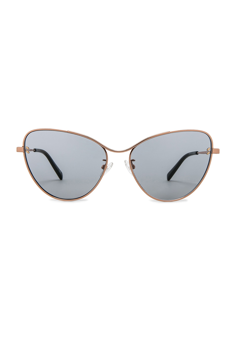 Stella McCartney Cateye Metal in Gold & Smoke