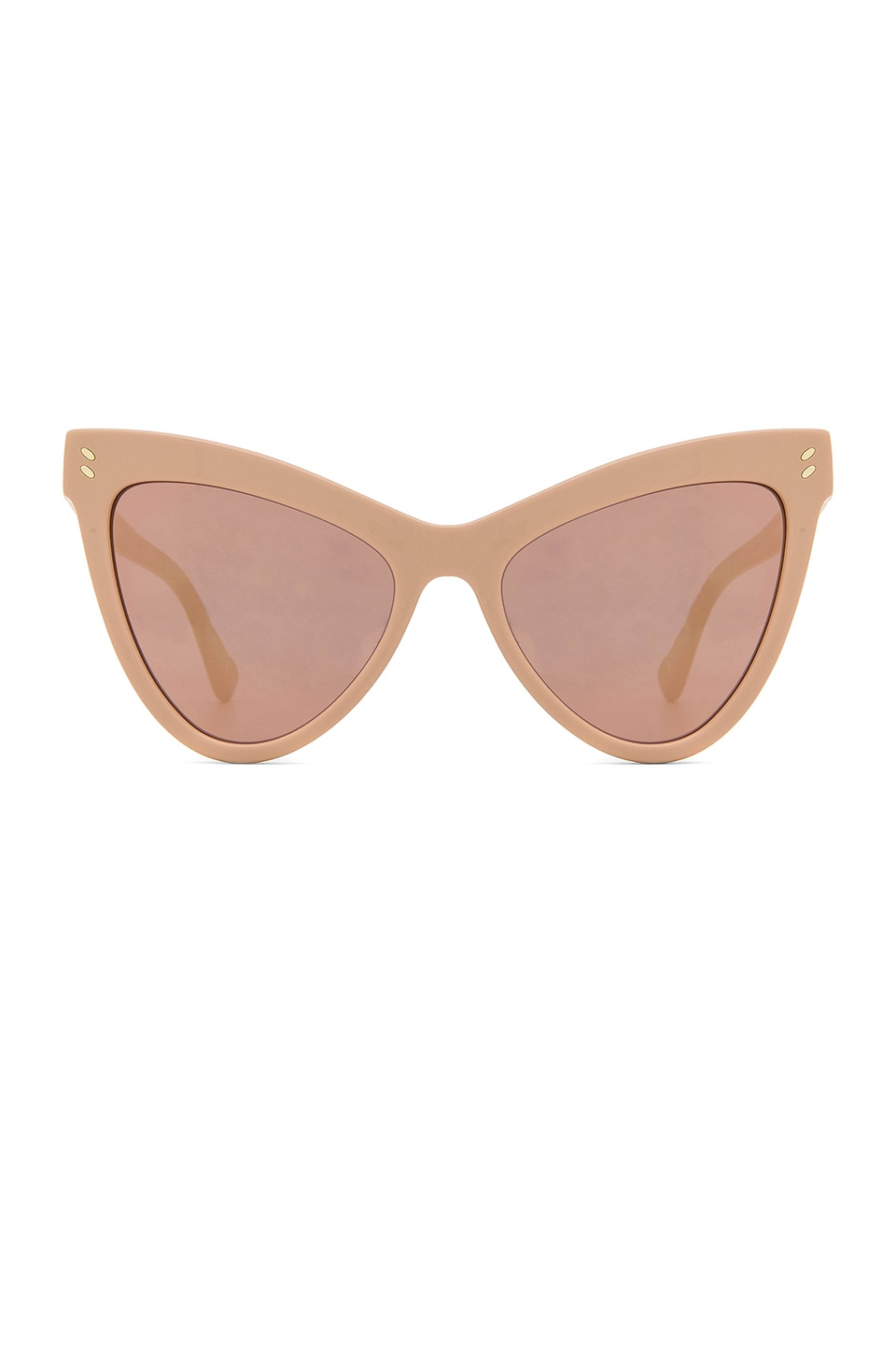 Stella McCartney Mirrored Cat Eye in Pink & Gold