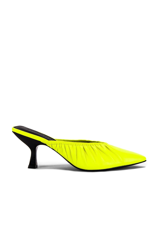 Sigerson Morrison Betsey Mule in Neon Yellow